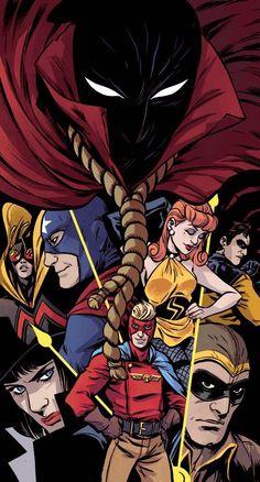 'Minutemen' by Becky Cloonan. Variant cover art for 'Before Watchmen: Minutemen' issue published January 2013 by DC Comics Comic Book Artists, Comic Books Art, Comic Art, Gi Joe, Silk Spectre, Fanart, Superhero Design, Classic Comics, Comic Movies