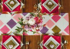Geometría Elegante Un tema divertido para tu #boda