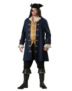 Captain Cutthroat Theatrical Quality Deluxe Adult Plus Size Costume – Spirit Halloween