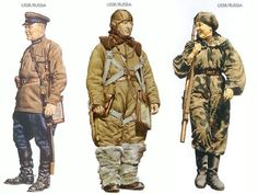 World War II Uniforms - USSR/Russia – 1941 June, Kiev, Sergeant, Cavalry Division USSR/Russia – 1941 Pilot VVF Red Air Force USSR/Russia – 1943 July, Kursk, Sniper, Rifle Battalion