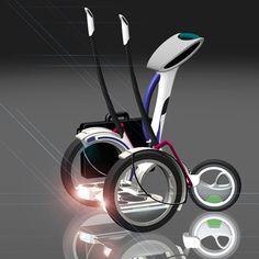 electronic scooter, hub area, transportation concept, iinovation car, three wheels