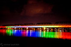 Metro Light Rail Bridge - Light Show