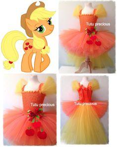 Apple jack My Little Pony Inspired tutu dress - I wanna make one for Mia for Halloween