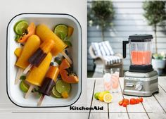 Sun, swimming pools and ice-lollies go hand-in-hand. We can't wait for warm days to make ice-lollies and juice with our Power Plus Blender. What is your or your family's favourites summer recipe? Much love from KitchenAid Africa xx. Kitchenaid, Summer Recipes, Swimming Pools, Juice, Africa, Sun, Warm, Canning, Swiming Pool