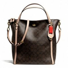 Coach Peyton Signature Tote Bag $257 I absolutely Have to have this! Hands down my favorite and its going to be all mine!!
