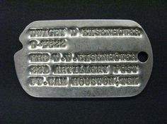 Eisenhower's Dog Tag Ike's dog tag issued pre-WWI. Ft. Sam Houston was the first home for newlyweds Ike and Mamie Eisenhower. -from the Eisenhower Library