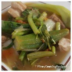 NILAGANG BABOY Pork Recipe Pinoy, Pork Recipes, Filipino Dishes, Filipino Recipes, Filipino Food, Tamarind Powder, Pork Sinigang, Lechon, Chinese Cabbage