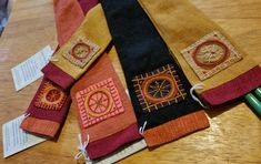 These are beautiful linen with silk lining knitting needle holders. A perfect gift for the knitter in your life or of course for yourself! These are products that were produced by an education and income generation project and by small family owed enterprises.