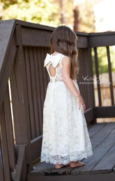 Ivory Lace Sweetheart Dress Keyhole Back - Kutie Tuties