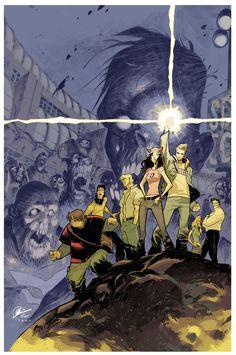 Fanboys VS Zombies - colors by *MatteoScalera on deviantART