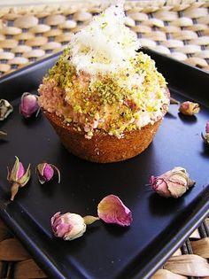 Persian pistachio rose cupcakes