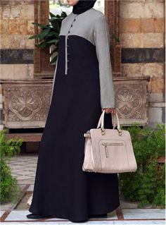 Bi-Color Abaya