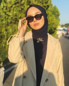Hijab Fashionista, Beautiful Arabic Words, Mode Hijab, Aesthetic Clothes, Korean Fashion, Roman, Sunglasses, Outfits, Style