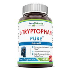Pure Naturals LTryptophan Dietary Supplement 500 Mg 120 Capsules -- You can get additional details at the image link. (This is an affiliate link and I receive a commission for the sales)