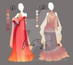 :: Adoptable Outfits 1: AUCTION CLOSED :: by VioletKy on DeviantArt