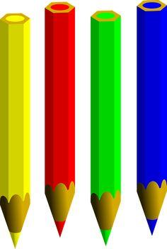 Lápices, De Color, Pluma, Escribir, Lápiz, Agudo