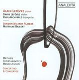Mathieu, Chostakovitch, Mendelssohn: Concertino & Concertos [CD]