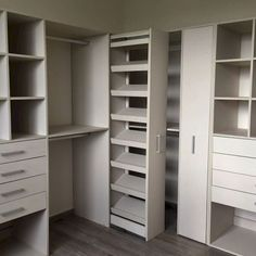 Maximize your closet room with these functional storage room organization ideas! We've collected lots of inspiration and also methods for optimizing storage room space with various designs and contemporary styles. Walk In Closet Design, Bedroom Closet Design, Master Bedroom Closet, Bathroom Closet, Wardrobe Design, Closet Designs, Bedroom Wardrobe, Wardrobe Closet, Shoe Closet