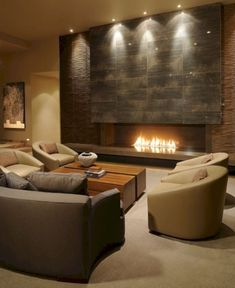 awesome 42 Decorating Modern Fireplace Ideas
