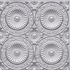 "Decorative Ceiling Tiles, Inc. Store - Paisley Daisies - Faux Tin Ceiling Tile - Glue up - 24""x24"" -"