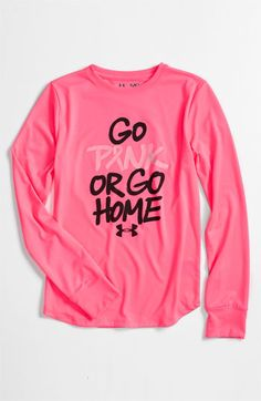 Under Armour 'Go Pink or Go Home' Tee (Big Girls) | Nordstrom - cute