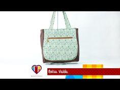 Bolsa de tecido passo a passo Valda - Maria Adna Ateliê - Cursos e aulas de bolsas de tecido - YouTube