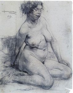 Life drawing by Fechin