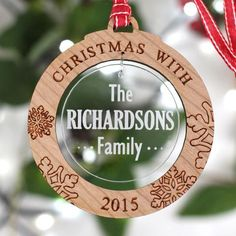 Christmas Family Wooden Ornament - NIVI Design