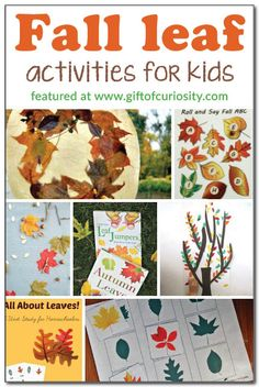 Fall leaf activities for kids {Weekly Kids' Co-op}