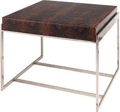 Burnett side table - Verarbeitung: Ebenholz <br> Farbton Holz: dunkel braun bedruckt