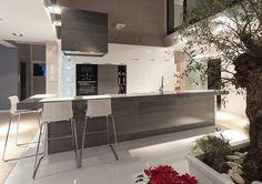 Studio Olkam KUCHNIA OTWARTA Wyspa to idealnie rozwiązanie na połączenie kuchni z salonem.