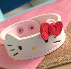 HK |❣| HELLO KITTY Leather Cuff Bracelet