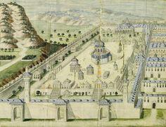 AN OTTOMAN ILLUSTRATION OF THE AL-AQSA MOSQUE IN JERUSALEM, TURKEY, 18TH CENTURY