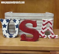 Chunky Wood Letters - USA only $14. Local Utah company
