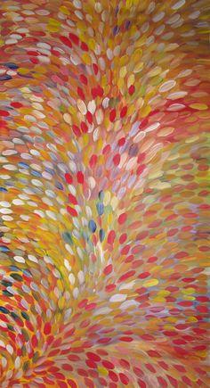 Australian Aboriginal Art Painting by GLORIA PETYARRE - BUSH MEDICINE LEAVES - 308 x 153 cm -GP1800 #art #aboriginalart #australianart #aboriginalpainting