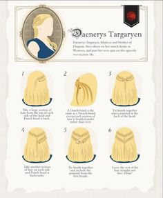 Daenerys Targaryen peinado. #JuegoDeTronos #CancionDeHieloYFuego