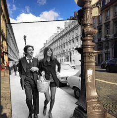 Then & Now: Splendid Dylan, the Stones, Serge & Jane, Picasso, Jean-Paul Sartre comparison photos | Dangerous Minds