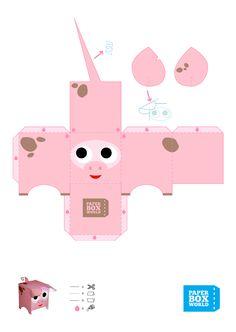 Varken sinterklaas suprise Pig Crafts, Animal Crafts, Origami, Paper Art, Paper Crafts, Paper Toys, Diy Craft Projects, Quilling, Activities For Kids