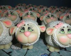 lembrancinha pote mini ovelhas