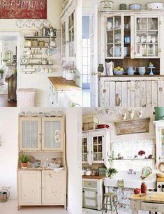 Shabby Chic Kitchen Cabinets Ideas 7