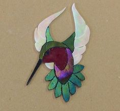 PRECUT STAINED GLASS ART MALE HUMMINGBIRD KIT MOSAIC INLAY CRAFT HANDCRAFTED | Pottery & Glass, Glass, Art Glass | eBay!