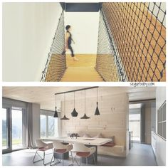 Mallas de protección para escaleras combinables con el estilo industrial