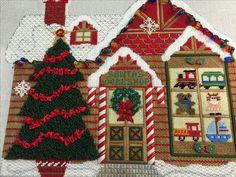 Santa's Worshop by Cindy! Needlepoint, Needlework, Santa, Dressmaking, Couture, Handarbeit, Craft, Tatting, Cross Stitches