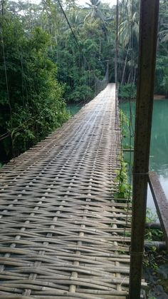 Bamboo Art, Bamboo Crafts, Old Bridges, Bamboo Structure, Bamboo Construction, Bamboo Architecture, Cool Tree Houses, Bamboo House, Bamboo Design