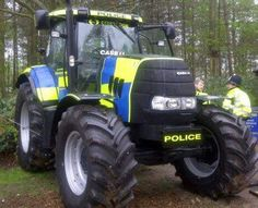 Police tractor. Hahahahahahahahahahahahaahahahahaa sorry this ones funny are they going to Chase people in this