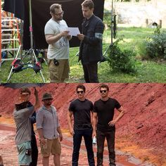 """; NEW behind the scenes pictures of Robert Schwentke, Theo and Miles on the set of Allegiant!"""