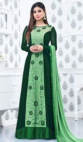 Buy indian salwar kameez online with the finest collection of indian salwar suit. Order this heavenly faux georgette floor length anarkali suit for festival and party Long Anarkali Gown, Anarkali Suits, Anarkali Churidar, Pakistani Suits, Indian Dresses, Indian Outfits, Mouni Roy Dresses, Buy Salwar Kameez Online, Latest Salwar Suit Designs