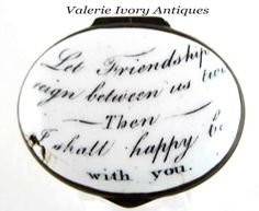 Calligraphy Text, Motto, Reign, Friendship, Patches, Cross Stitch, Boxes, Enamel, English