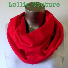 Red Holiday Scarf  Infinity soft flannel scarf by lolliecouture, $21.00
