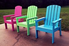 I LOVE these awesome DIY chairs from Ana White's plans!  Made by South & Birch and only $150!